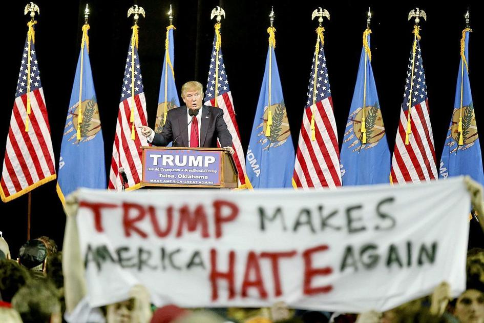 Image result for Trump rally haters