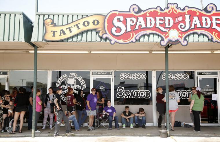 Tulsa shop says 39 cancer sucks 39 with 50 tattoo marathon for Tattoo and piercing shops in tulsa ok