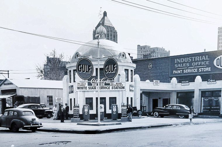 Throwback Tulsa How A Gas Station Revved Up Downtown