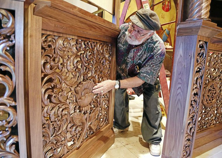 Holy Trinity Church celebrates traditions with hand-carved screen