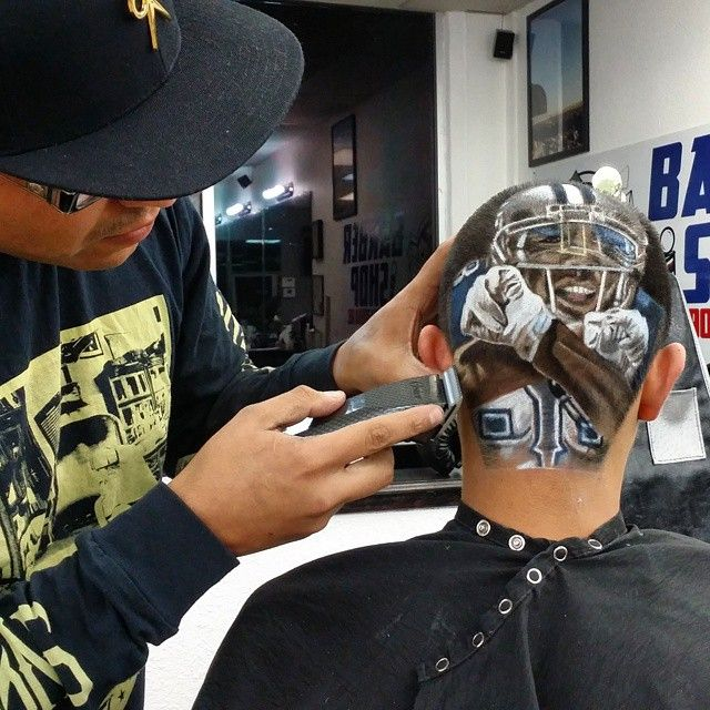 ... Extra - Check out this Dez Bryant tribute haircut from Texas barber