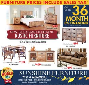 Furniture Prices Include Sales Tax