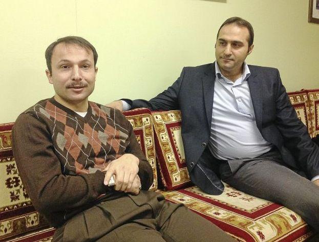 Omer Akdeniz, left, Yusuf Dundar