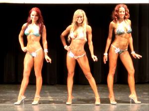 Vanessa Pollis (far left) competing back in May, she took second place in her division