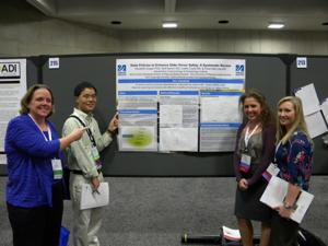 Dugan and some of her research team members working on the Healthy Aging Indicators Study.