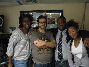 UMB Radio Finalists - Felica Zhao, Colin Briggs, Jimmy Smith, Brittany Fernandes.