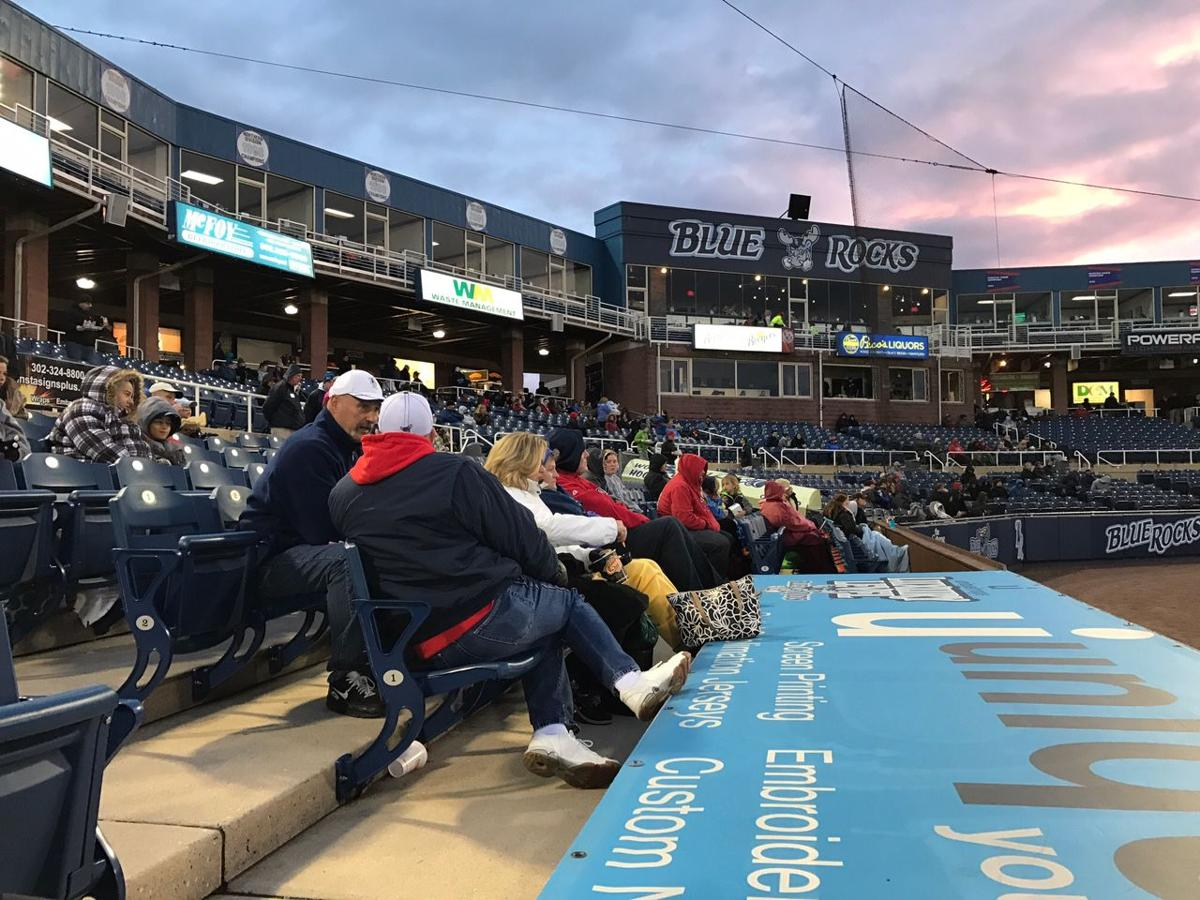 VIDEO Fans brave the cold for the Wilmington Blue Rocks season opener