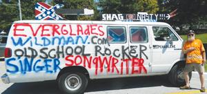 Everglades Wildman's unique van