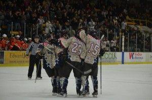 Hockey salutes veterans, downs Bowling Green 3-1