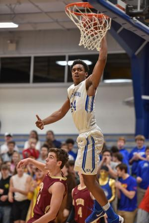 <p>The Battle Ground Academy boys out-gunned Zion Christian 106-91 to advance in the district tournament Thursday, Feb. 11, 2016 in Franklin. Terrell Webster was one of six Wildcats who reached double figures. </p>