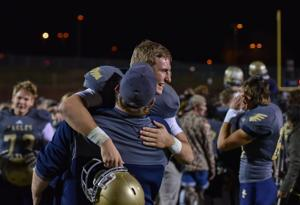 <p>Andrew Bunch threw five touchdowns to Nate Johnson and guided Independence into the Class 5A championship. The Eagles raced past Centennial 56-15 Friday, Nov. 27, 2015 in Thompson's Station. </p>