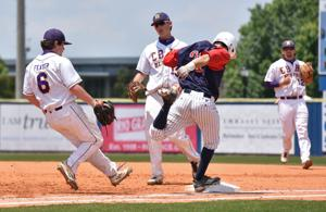 """<p>Jeremiah Pittman of Brentwood Academy just reaches first during the Eagles 6-1 loss to Christian Brothers in the Division II-AA state championship Thursday, May 26, 2016 at Middle Tennessee State University in Murfreesboro.</p><p>See <a href=""""http://www.williamsonherald.com/communities/brentwood/collection_e8f7f62e-2407-11e6-8db9-4f804f6d5d98.html"""" target=""""_blank""""><strong>PHOTOS</strong></a> for full gallery from Thursday's championship game.</p>"""
