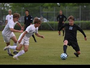 Harm Abbott's goal in the Division II-A soccer final