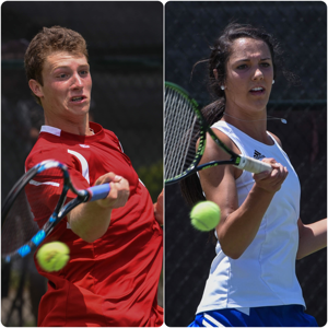 <p>Ravenwood's Steven Karl, left, and Brentwood's Somer Henry, both claimed individual Class AAA tennis titles Friday, May, 21, 2015 in Murfreesboro. </p>