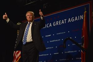 <p>Donald Trump spoke at The Factory in Franklin on Oct. 3, 2015. </p>