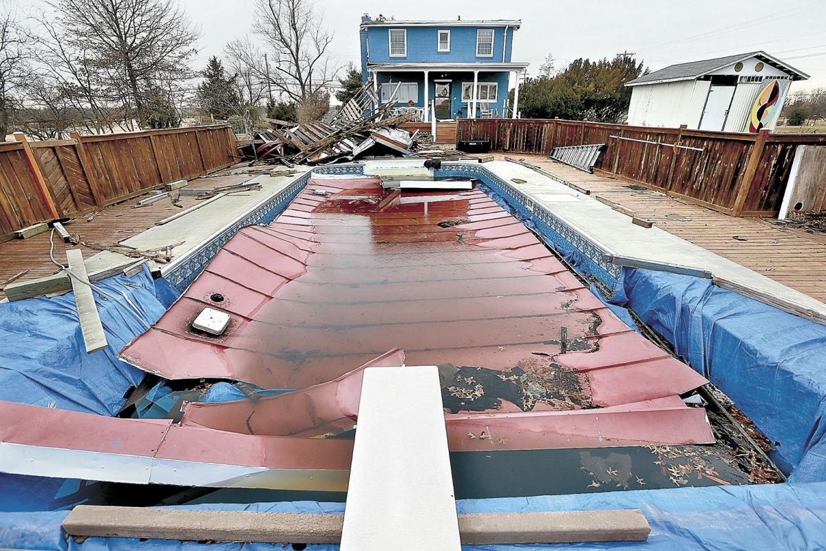 Wind Picks Up Roof Drops Half In Pool News