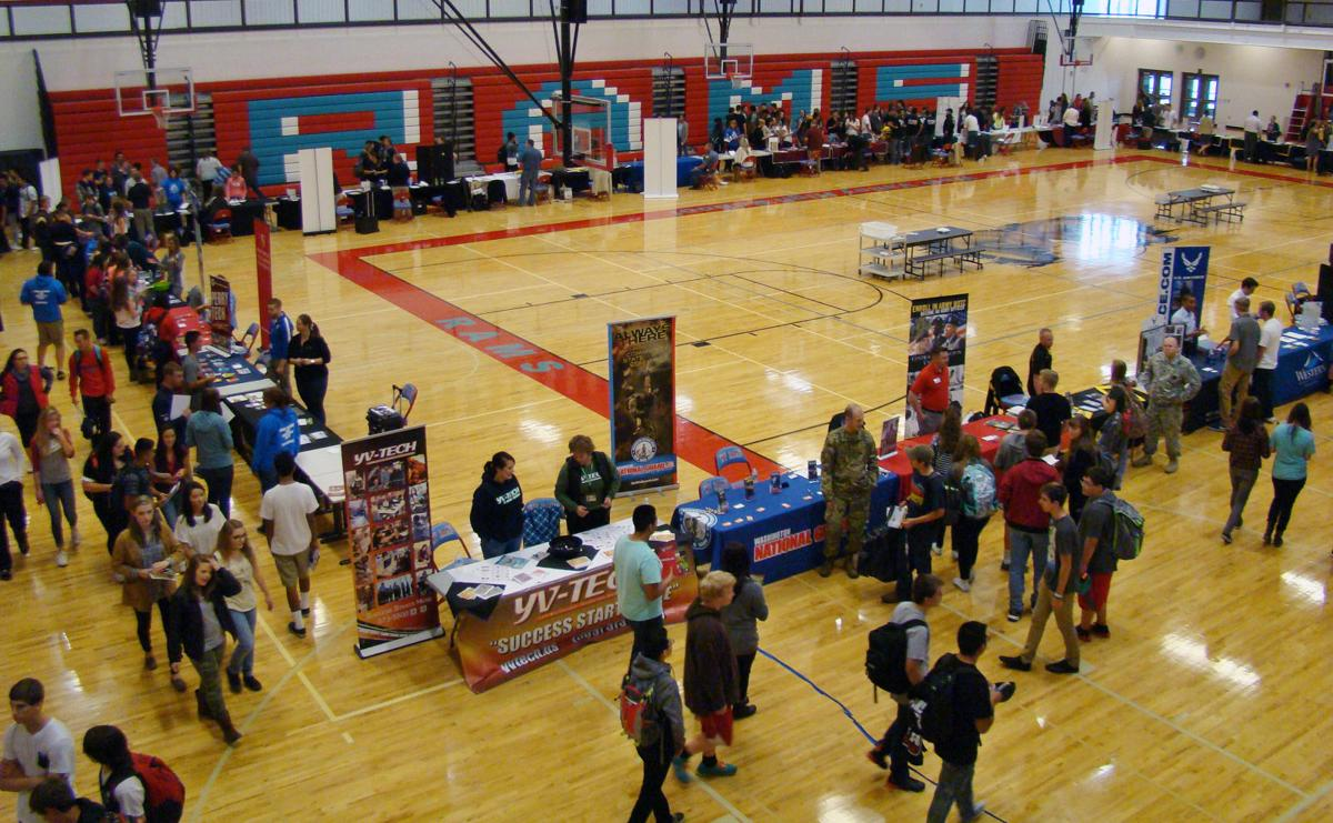 career college fair tours yakima valley thanks to a vision careerfair yh 100815 1 jpg