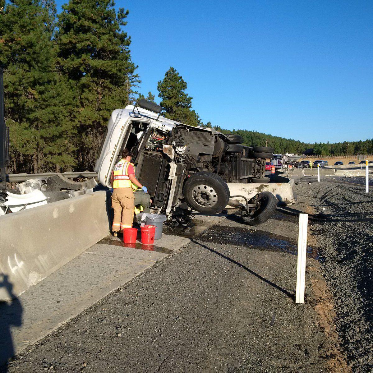 I-90 Traffic Delayed By Semi-truck Crash