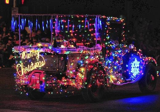 holiday parade lights up yuma photos