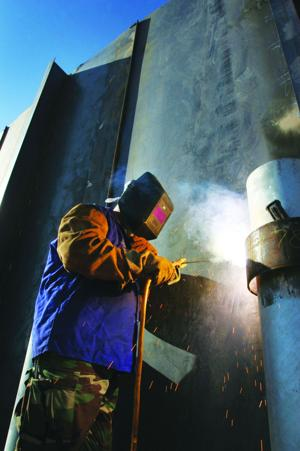 Welding by the wall