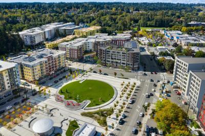 Construction on Downtown Redmond's 'Porch + Park' Begins