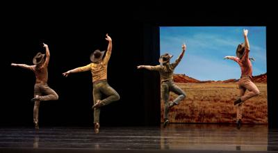 Pacific Northwest Ballet company dancers in the world premiere of Donald Byrd's And the sky is not cloudy all day