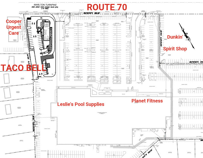 Taco Bell site plan