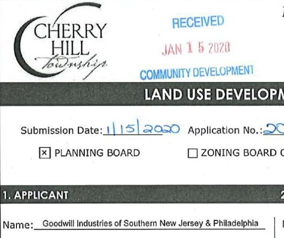 Goodwill's application