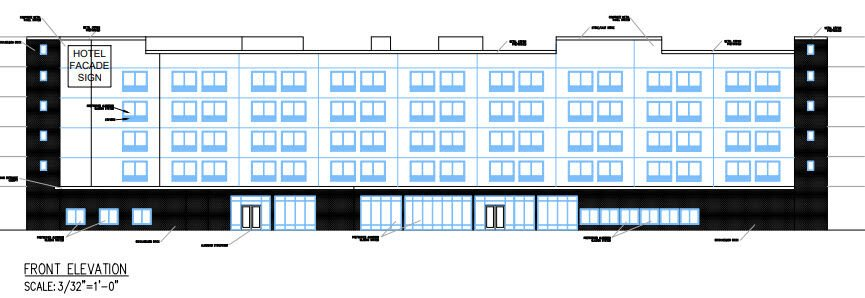 Rendering of hotel at Garden State