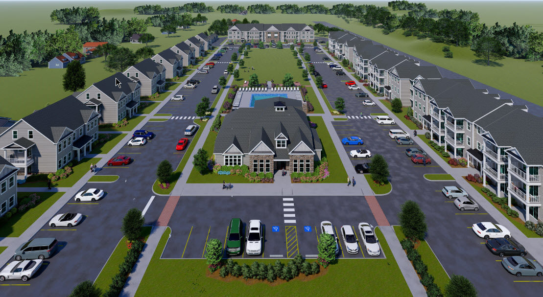 Rendering of the Hampton Road residential project