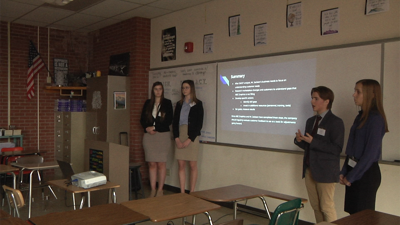 Students presenting for BPA