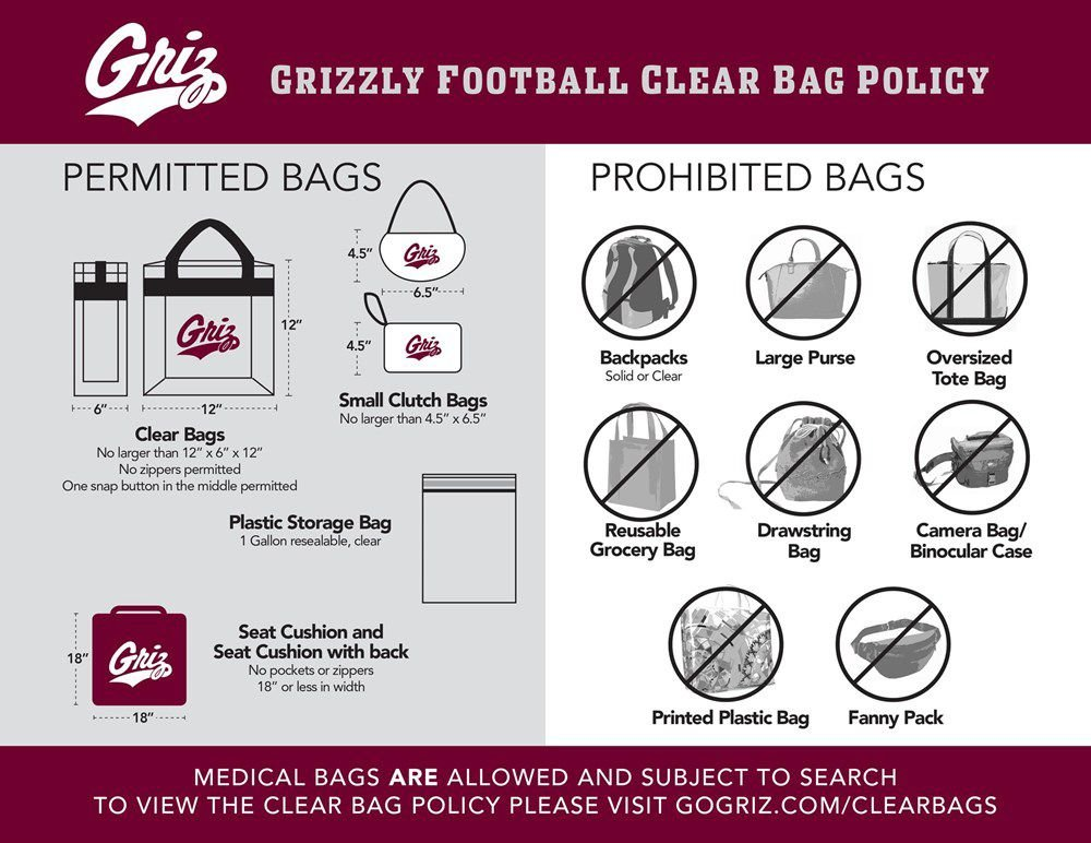 UM implements new clear bag policy for stadium events