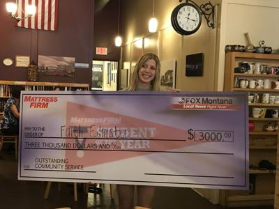 Faith Edmister wins Student of the Week Scholarship