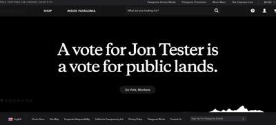 Patagonia throws support behind Sen. Jon Tester