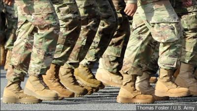 Soldiers boots