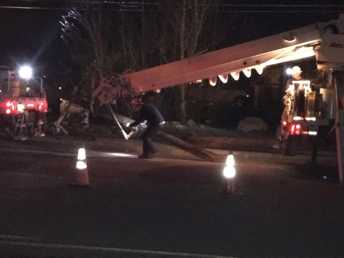 Car crashes into telephone pole on S 32 West
