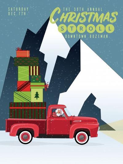 2019 Christmas Stroll poster