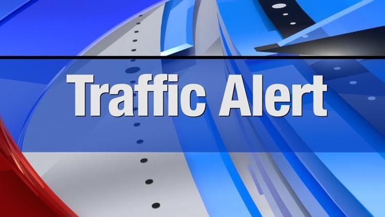 A traffic alert in Bozeman through August 1