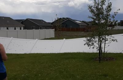 hail damage to fence