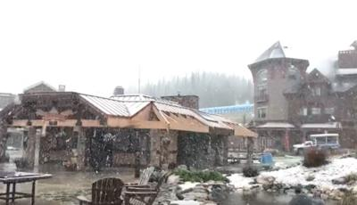 big sky june snow