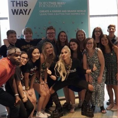 Mental Health First Aid montana students meet lady gaga