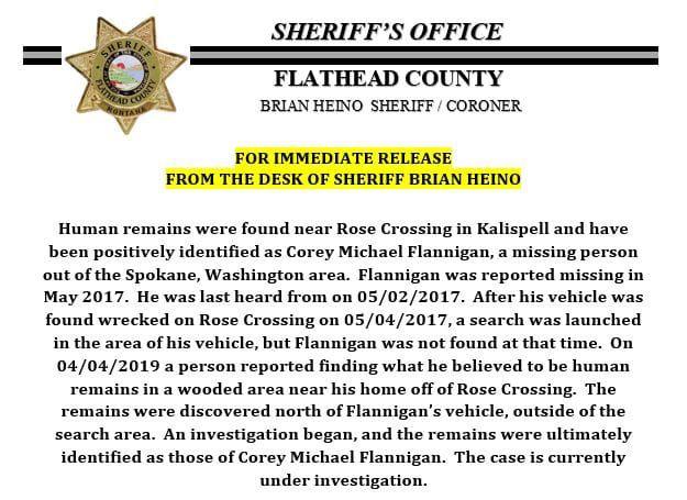 flathead sheriff announcement