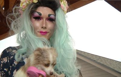 Drag queens & kings help rescue dogs find their forever home