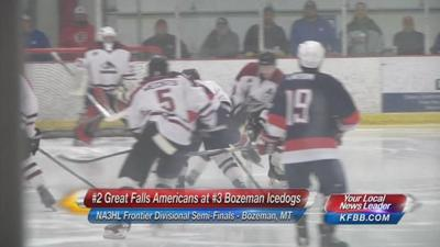 Great Falls Americans Defeat Bozeman Icedogs to Advance to NA3HL Frontier Divisional Finals, Highlights and Recap from Friday 3/18