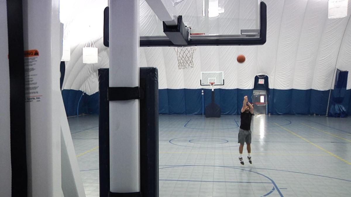 Montana State University North Dome basketball game