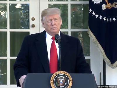 President Trump's address entailing issues with human trafficking