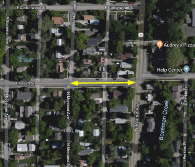 Peach to Rouse closed in Bozeman for gas main work