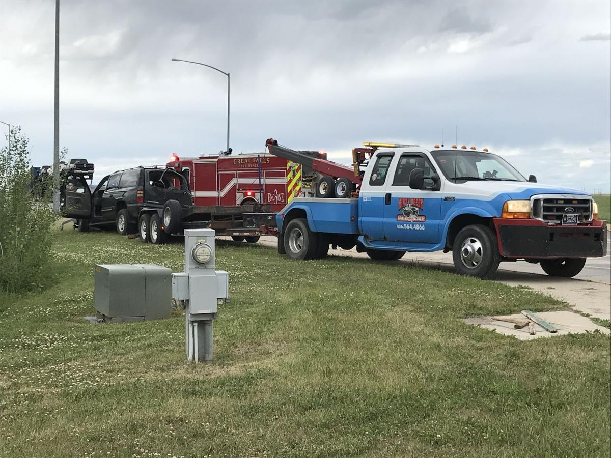 Crash blocking traffic near Malmstrom AFB