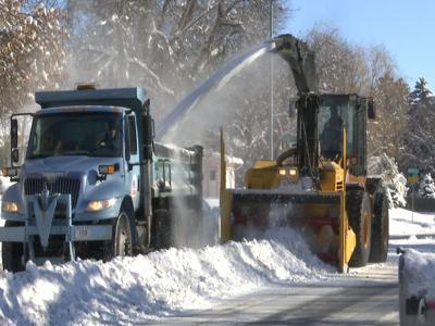 Plowing progress in the city of Billings