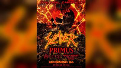 Slayer farewell tour Spokane
